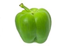 Einzelner grüner Pfeffer. Stockbild