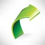Einzelner grüner Pfeil Stockbild