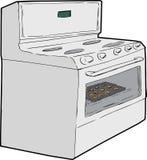 Einzelner Ofen mit Plätzchen nach innen Lizenzfreies Stockfoto