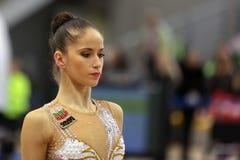 Einzelner rhythmischer Turner Neviana Vladinova Lizenzfreie Stockfotos