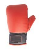 Einzelner roter und schwarzer Boxhandschuh Stockfoto