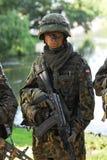 Einzelner Soldat Stockfotografie