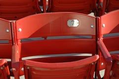 Einzelner Stuhl Stockfoto