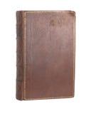 Einzelnes altes ledernes gebundenes Buch stockbilder