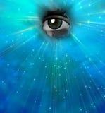Einzelnes Auge lizenzfreie abbildung