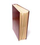 Einzelnes Buch getrennt auf dem weißen Hintergrund stockfotografie