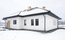 Einzelnes Familien-Haus Lizenzfreie Stockbilder