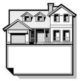 Einzelnes Familienhaus Stockbild