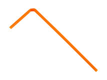 Einzelnes flexibles trinkendes Straw Orange Lizenzfreie Stockfotos