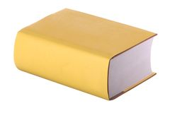 Einzelnes gelbes Buch Lizenzfreies Stockbild