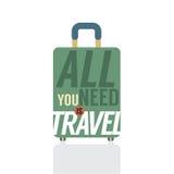 Einzelnes Gepäck des Reisenden Lizenzfreie Stockfotografie