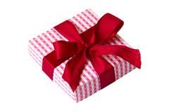 Einzelnes giftbox getrennt auf weißem Hintergrund Lizenzfreies Stockfoto