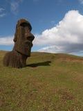 Einzelnes Moai Lizenzfreie Stockbilder