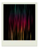 Einzelnes polaroidfoto mit Farbe nach innen. lizenzfreie stockfotos
