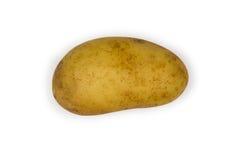 Einzelnes potatoe lokalisiert auf Weiß Stockfoto