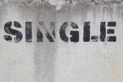 Einzelnes Zeichen für Anschlagtafeln oder vordere Abdeckungen Lizenzfreie Stockbilder