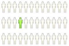 Einzelperson mit Führung-Qualitäten stock abbildung