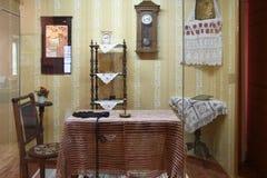 Einzelteile des inländischen Lebens der russischen Bauern Alles, das Sie für Haushaltung benötigen Stockfoto