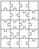 Einzelteile des Puzzlespiels Stockbilder