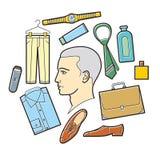 Einzelteile für Männer lizenzfreie abbildung