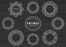Einzigartig, Hand gezeichnet, dekorative Rahmen Stockfotos