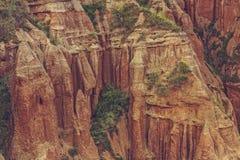 Einzigartige Abnutzungssandsteinklippe Stockbild