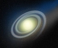 Abstrakter Andromeda-Galaxie-Raum-Hintergrund Stockbild