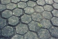 Einzigartige alte Pflasterungszement-Boden-Hintergrund-Beschaffenheit Stockfoto