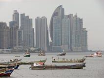 Einzigartige Ansicht von Panamas Wolkenkratzern Stockfotografie