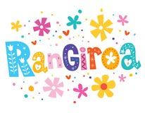 Einzigartige Beschriftung Rangiroa stock abbildung