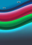 Einzigartige Decke unter Verwendung der Farbe, die LED-Beleuchtung ändert lizenzfreie abbildung