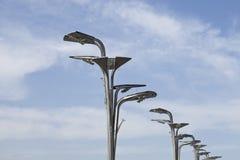 Einzigartige geformte LED-Beleuchtung an Peking-Olympiapark Stockfotografie