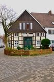 Einzigartige historische deutsche Architektur Stockfotos