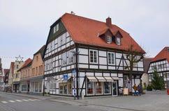 Einzigartige historische deutsche Architektur Stockfoto