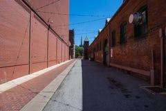 Einzigartige historische Gebäude in im Stadtzentrum gelegenem historischem, York, Pennsylvan Lizenzfreie Stockfotos