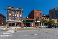 Einzigartige historische Gebäude in im Stadtzentrum gelegenem historischem, York, Pennsylvan Stockbilder