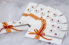 Einzigartige Hochzeitseinladungen Stockbilder