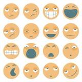 Einzigartige Karikatur Emoticons Lizenzfreie Stockbilder