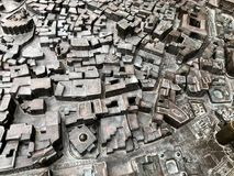Einzigartige Landschaften Baku City Alte Stadt, minimak Lizenzfreie Stockfotos