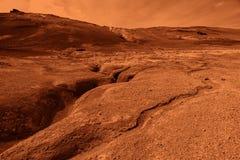 Einzigartige Mars- Landschaft an geothermischem Bereich Hverir in Nord-Island Stockfotografie