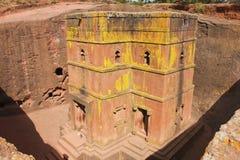 Einzigartige monolithische stein-gehauene Kirche von St George, UNESCO-Welterbe, Lalibela, Äthiopien Lizenzfreie Stockfotos