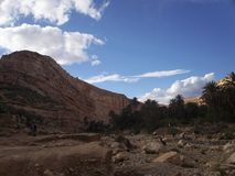 Einzigartige Panoramalandschaft - TAGHIGHT - ALGRIA Stockbild
