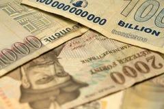 Einzigartige Simbabwe-Hyperinflation Banknote hundert Milliarde Dollar ausführlich, 2008 Lizenzfreies Stockbild