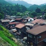 EINZIGARTIGE UND TRADITIONELLE HÄUSER IN JAPAN Stockbild