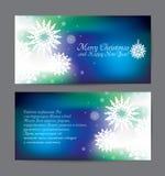 Vektorweihnachtsblauer Feiertagsflieger Stockfoto