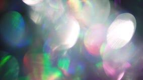 Einzigartiger abstrakter Hintergrund, träumerische schillernde holoraphic Folie, mehrfarbige Partikel stock video