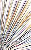 Einzigartiger bunter heller Hintergrund Streifen, die von der unteren Ecke zu den Rändern auseinander laufen Stockfotografie