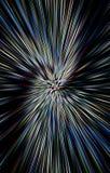 Einzigartiger bunter Hintergrund Strahlen laufen in einer Spirale von der Mitte zu den Rändern auseinander Stockfotos