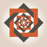 Quadratische geometrische Entwürfe Stockbild