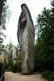 Einzigartiger Felsenberg Adrspasske skaly im Nationalpark Adrspach, Tschechische Republik Stockfotografie